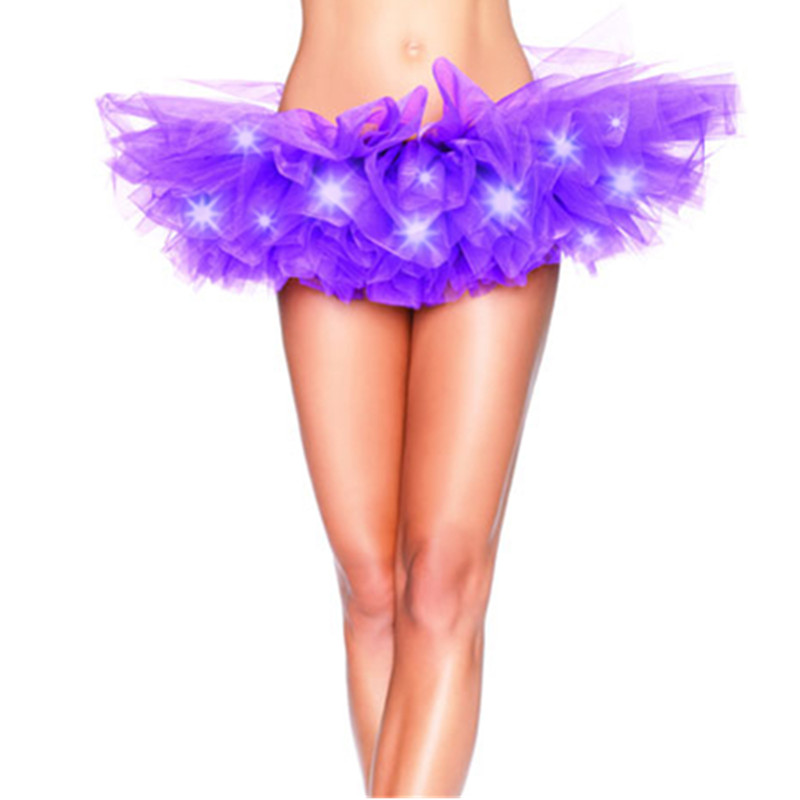 Underwear & Sleepwears Led Tutu Skirt Up Neon Fancy Rainbow Mini Tutu Fancy Costume Adult Light Skirt Women's Intimates