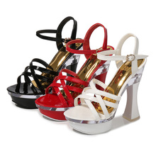 505 Woman platform pumps Sandals High Heels Shoes lady Peep Toe Square Heel Fashion Ankle Buckle Party Platform High Heel недорго, оригинальная цена