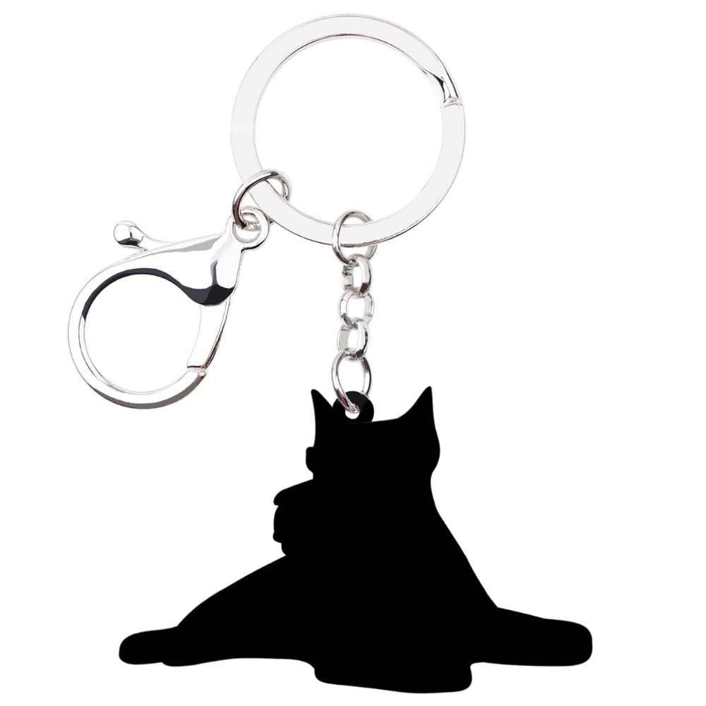 Bonsny акриловые брелки для собак из мультфильма Шнауцер терьер брелок-кольцо ювелирные изделия для женщин и девочек Сумка для автомобиля кошелек талисманы Bijoux