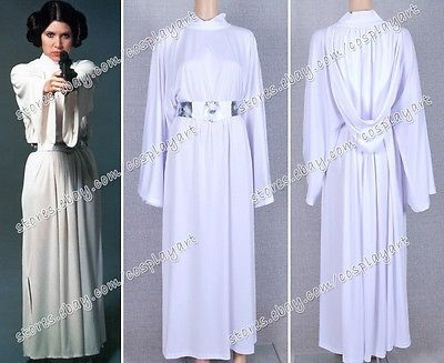 Star Wars Cosplay Princess Leia Organa costume set Halloween Fancy for girls party dress star wars princess leia organa cosplay wigs halloween costume wig synthetic fiber wig free shipping 2015 hot sales