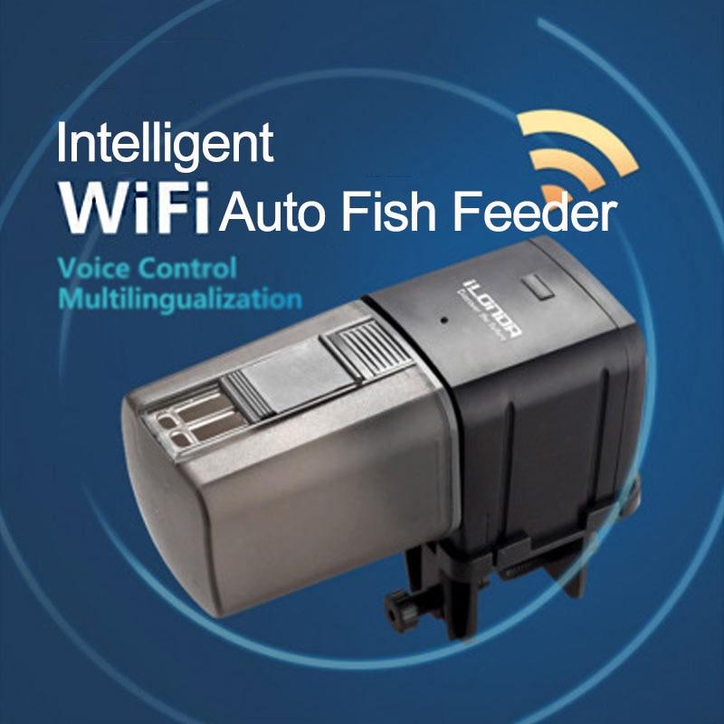 Serbatoio di pesce Alimentatore WiFi A Distanza Intelligente Dispositivo di Alimentazione di Controllo Aquarium Serbatoio Auto Pesce Alimentatore 165-170 ml