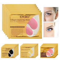 Crystal Collagen Eye Mask Anti Aging Dark Circles Anti Puffiness Moisturizing Face Eye Masks Patches Gel Eye Pads 5/6/7/8pairs Facial Care