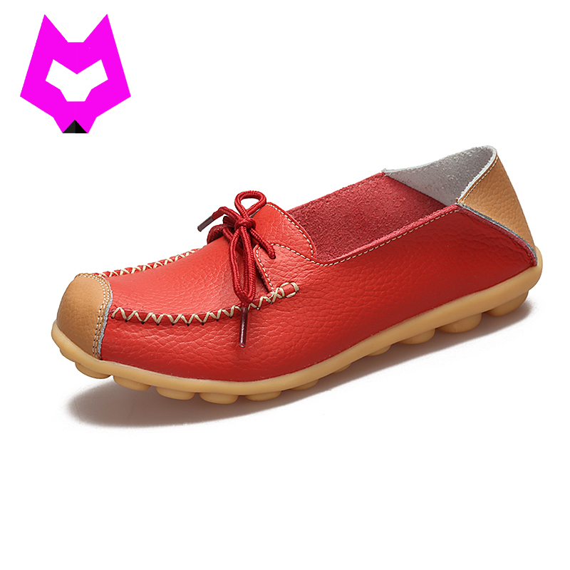 Wolf who 2017 Loafer Moccasins comfortable Cut Out Women Genuine Leather Shoes Woman Round Toe slip on shoes Casual for woman  wolf who 2017 summer loafers cut out women genuine leather shoes slip on shoes for woman round toe nurse casual loafer moccasins
