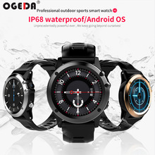 OGEDA 2019 H1 Smart Watch Android 4.4 Waterproof 1.39″ MTK6572 BT 4.0 3G Wifi GPS SIM For iPhone Smartwatch Men Wearable Devices