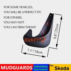 Image 5 - ชุดUniversal Mudflaps Mud Flaps Splash Guards MudguardsสำหรับSkoda Citigo Fabia Octaviaอย่างรวดเร็วRoomster Yeti 6Y 5J NJ 1U 1Z 5E