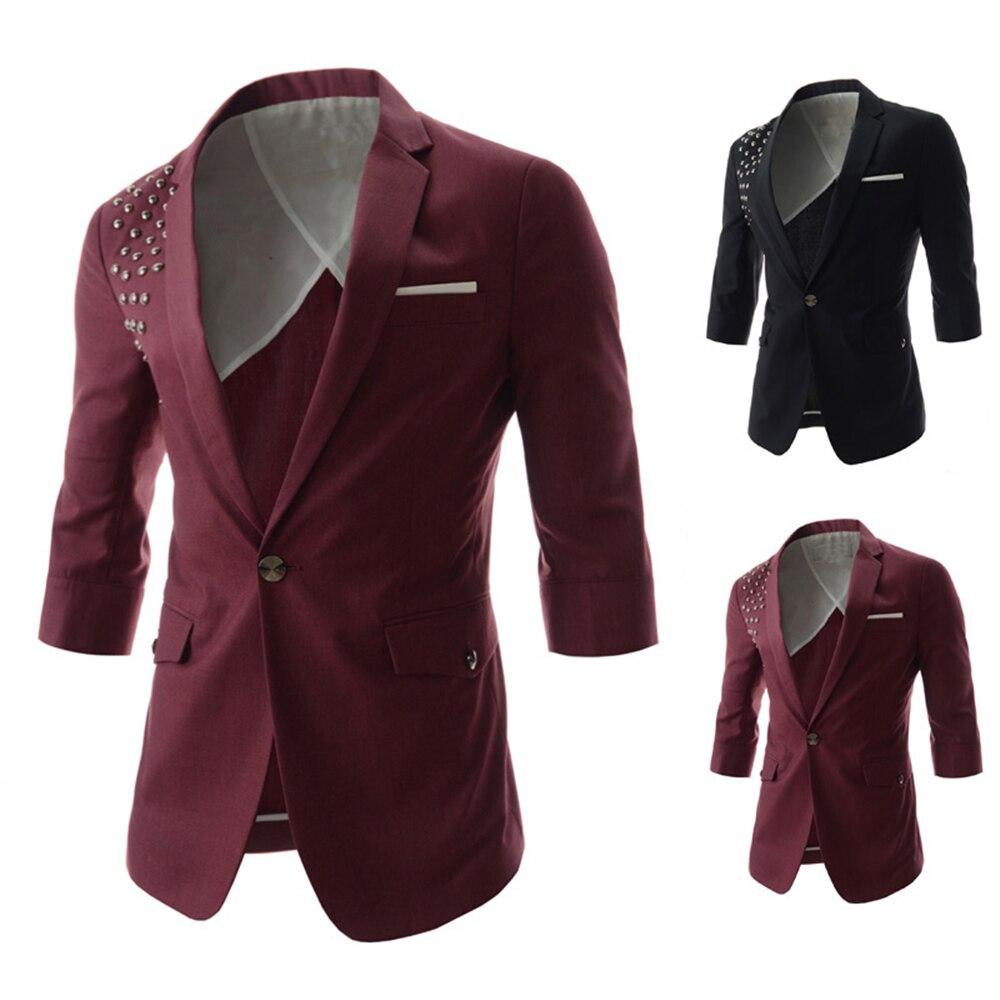 Mens jacket half - Aliexpress Com Buy Denim Blazer Men Promotion Best Selling 2015 Newest Design Men S Half Sleeve Casual Small Suits Fashion Slim Fit Coats Jacket From