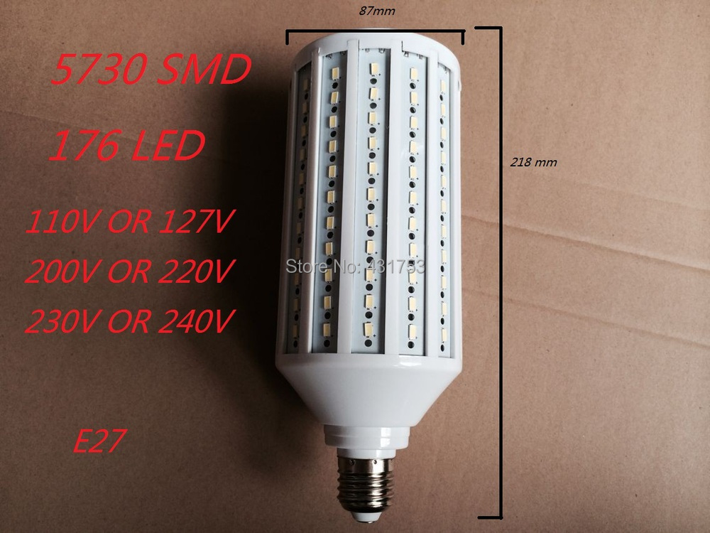 E27 B22 E40 55W 5730 SMD 176 LED Chip LED Energy Saving Corn Light Lamp Bulb White/Warm white 110V/220V/230V/240V Lamps bulbs e27 15w trap lamp uv spiral energy saving lamps purple white