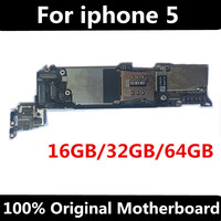 Tested Good Working Original 16GB 32GB 64GB Motherboard for iPhone 5 5g Factory Unlocked Mainboard Logic Board IOS system