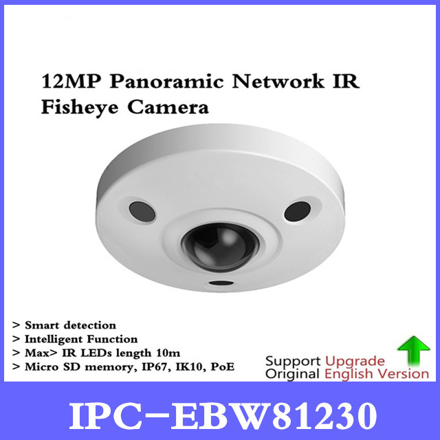 Original DH IPC-EBW81230 12MP Panoramic Network IR Fisheye Camera H.265/H.264 3DNR AWB AGC BLC IP67 IK10 PoE цена