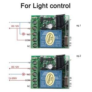 Image 5 - Kebidu 433 МГц беспроводной пульт дистанционного управления переключатель для обучения кода передатчик дистанционного управления 12 В постоянного тока 1 канал реле 433 МГц модуль приемника