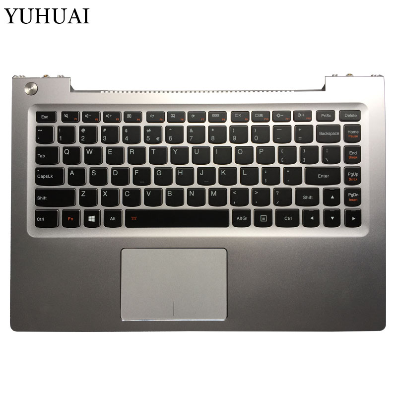 NEW US laptop keyboard For Lenovo U330p U330 English keyboard with Palmrest cover with Touchpad 7 4v 45wh original new u330 laptop battery for lenovo ideapad u330 u330p u330t series l12m4p61 l12l4p63 21cp5 69 71 3
