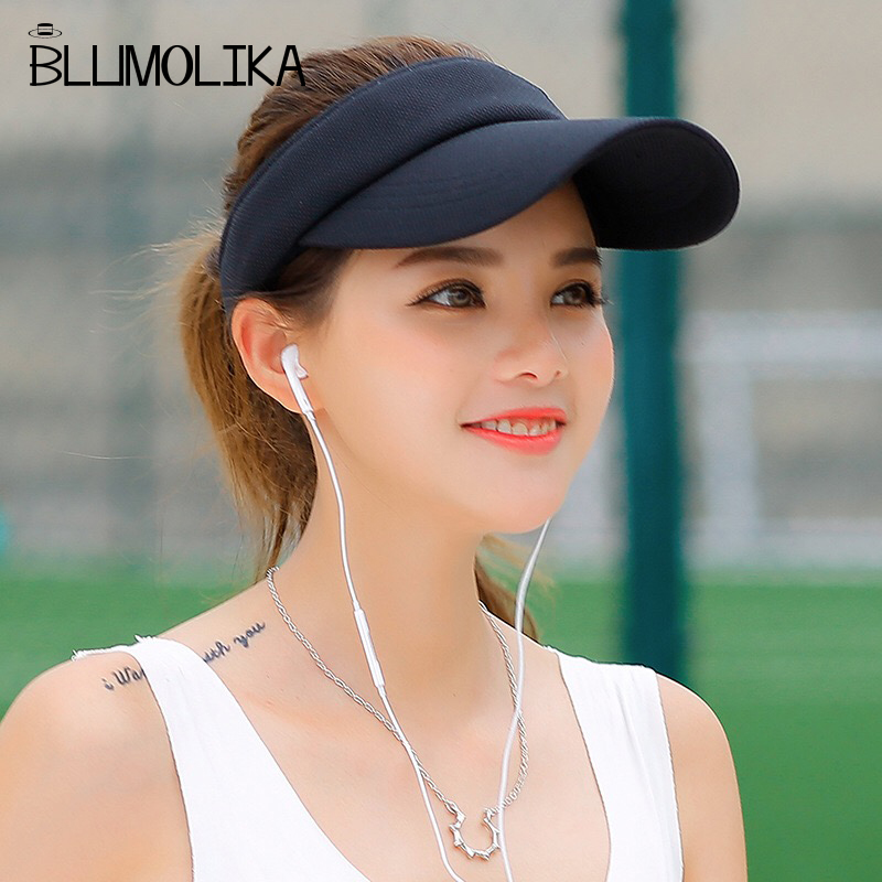 Partihandel Mode Topless Tennis Caps Solid Färg Sun Hat För Kvinnor - Kläder tillbehör - Foto 3