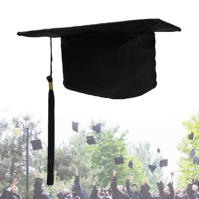 b5694ff84 Lesov Black Mortarboard School Graduation Party Tassels Cap Adult Graduation  Hat University Bachelors Master Doctor Academic Hat