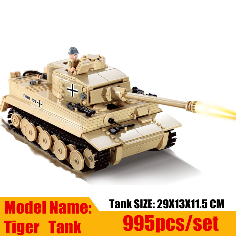 New Century Military German King Tiger Tank fit legoings Military army figure city Model Building Block bricks Toy gift kid boy 2017 wholesale new army block educational military war block kids tank helicopter model building blocks toy best gift for kids