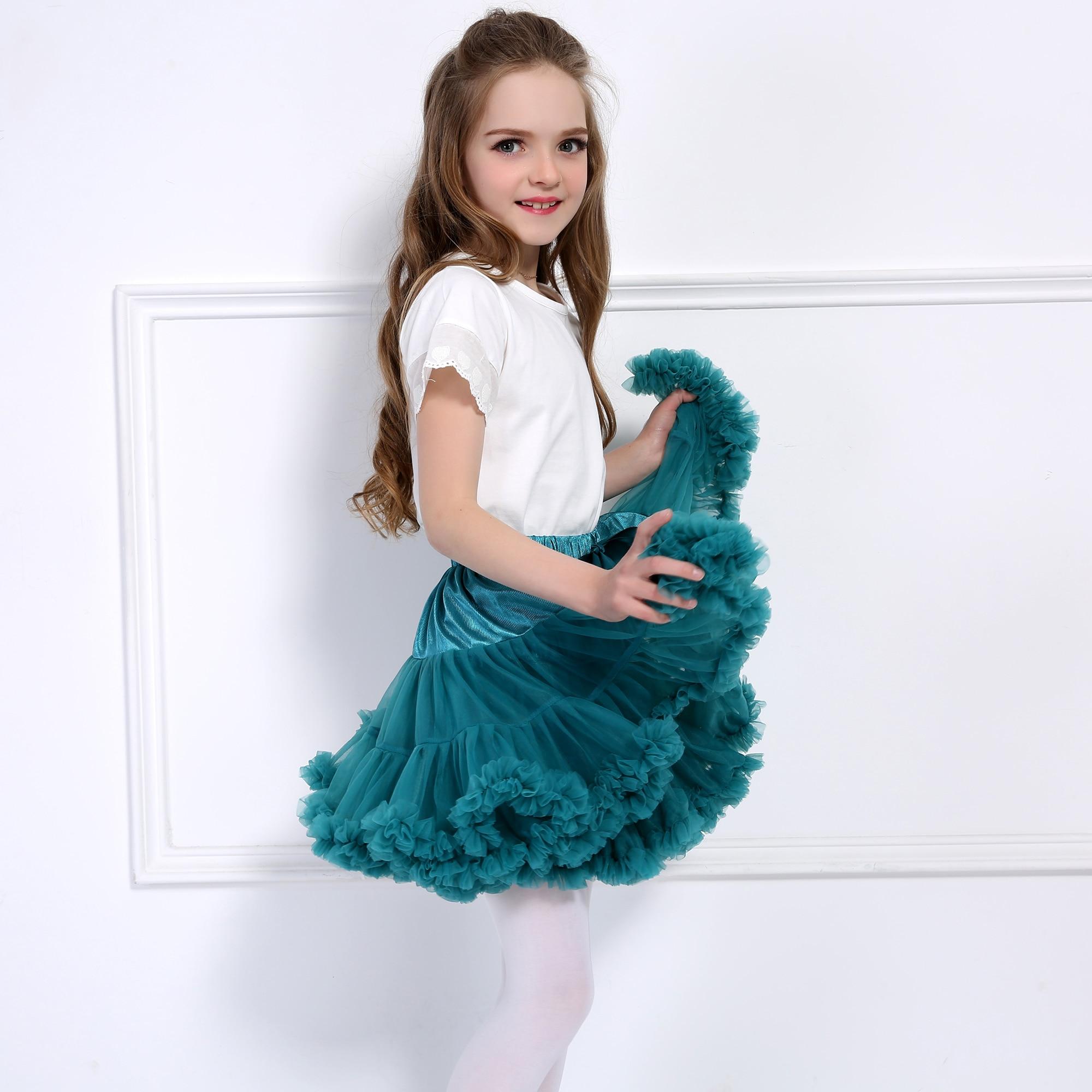 Children Fluffy Tutu Dance Skirts For Girls