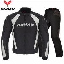 DUHAN motorcycle riding clothes suits Men locomotive motorbike racing suit Four seasons Drop resistance Breathable Moto suit