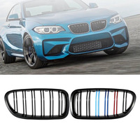 Front Gloss Black M Color Kidney Grill Grilles For BMW F10 F18 F11 M5 2011 2012 2013 2014 2015 2016