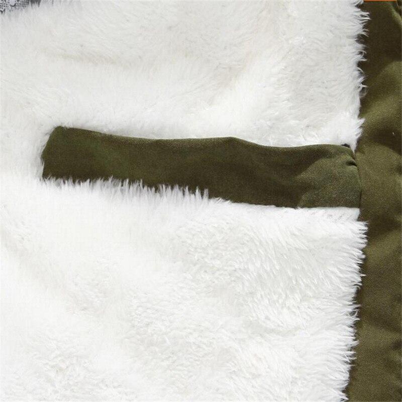Manteau Rembourré Parka 4xl À Veste D'hiver Capuchon Green 2018 Vestes Fourrure Col Couples Coton De black Khaki Hommes army Femmes Militaire Taille Z0qSxwd
