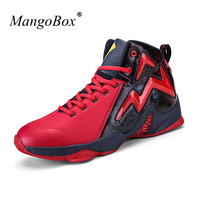 MangoBox High Sneakers Men Red Yellow Male Sport Shoes Hard Wearing Mens Basketball Trainers Lace Up