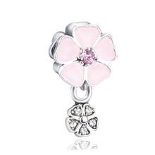 New alloy color flower pendant large hole beads diy bracelet accessories wholesale ENM382