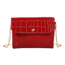 New Luxury Crocodile Pattern Bag Clutches Women Evening Bags Party Wedding Hand Bag Chain Crossbody Purses Wallet Clutch