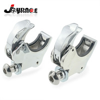 49mm Forks Motorcycle Detachable Windscreen Windshield Clamps For Harley Dyna Street Bob Wide Glide 06 16