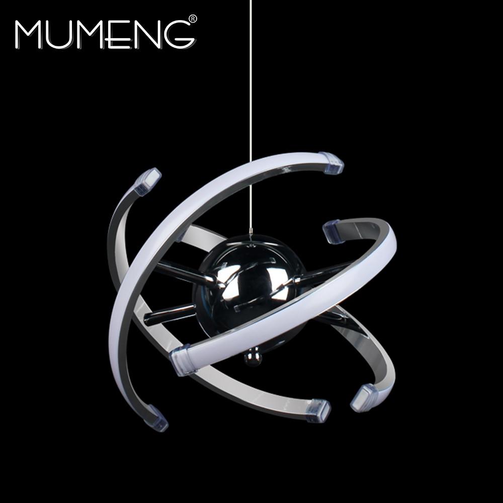 Mumeng Boule LED Pendentif Lumière 23 w Acrylique Moderne cuisine Lampe 85-265 v Salle à manger Éclairage Suspendu Réglable style Luxture