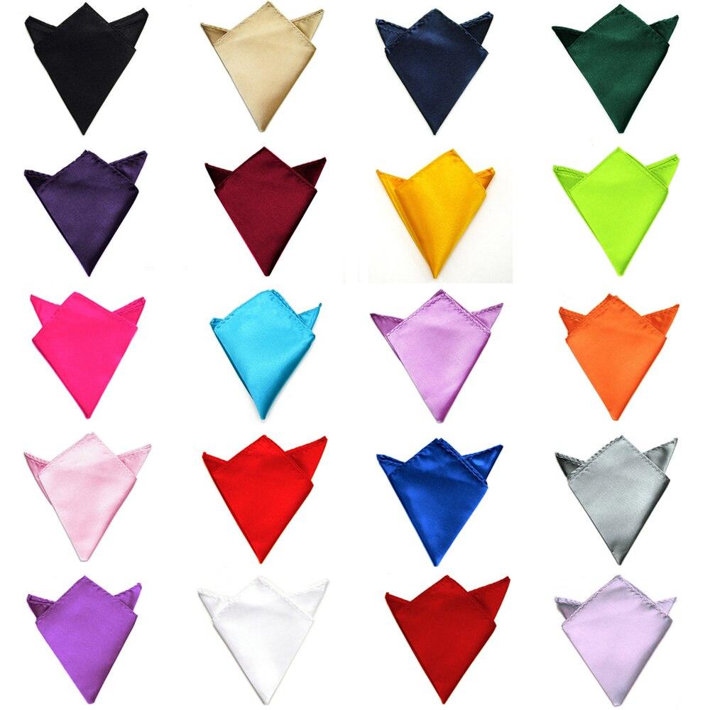ᐂHombres clásico de Color sólido suave satén pañuelo bolsillo ...