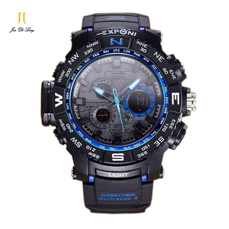 ФОТО Multifunction Men's Sports Watch Electronic Alarm Clock Luminous Fashion Couple Watches Calendar Couple Digital Wristwatches