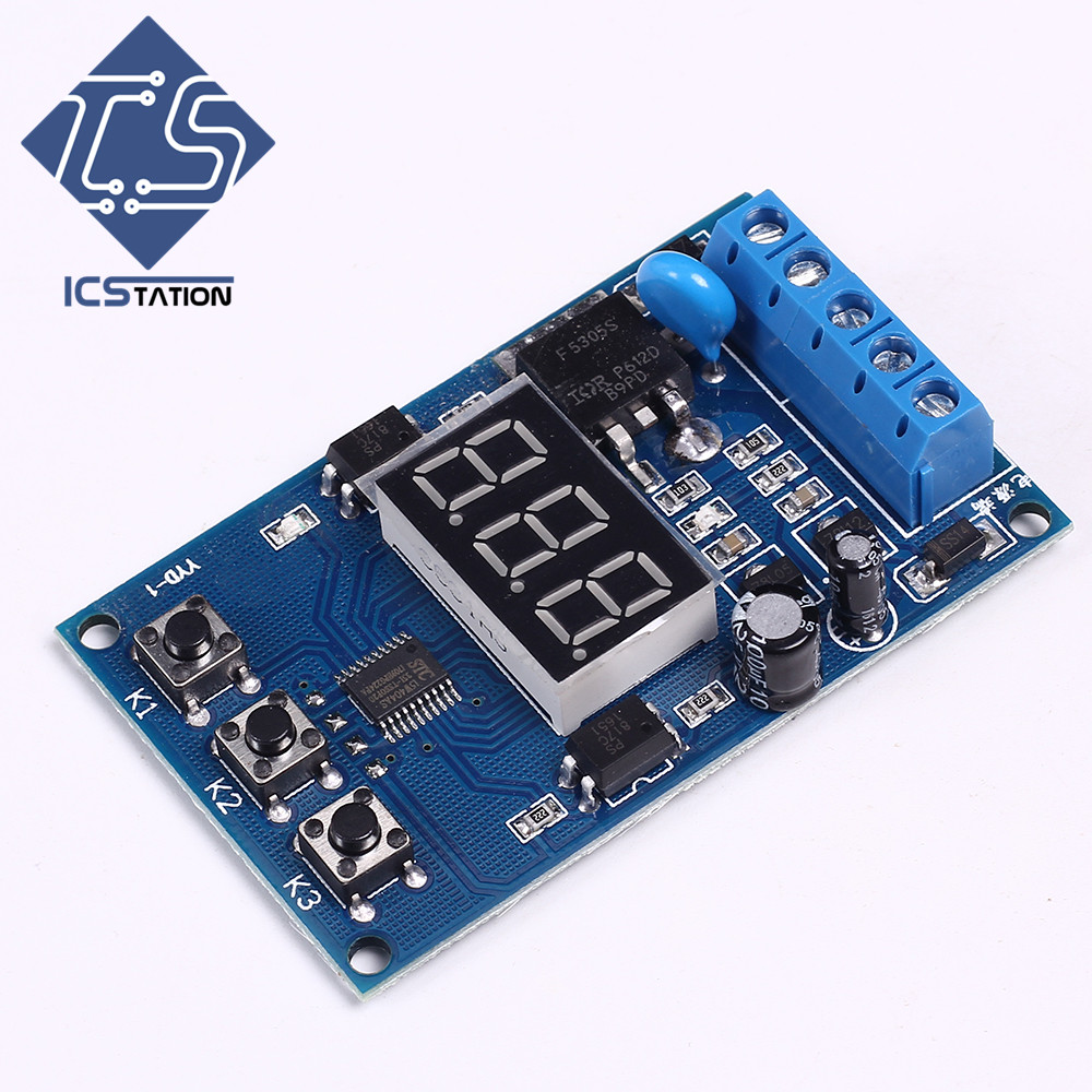 все цены на Mosfet Delay Cycle Switch Power Module Trigger Pulse Signal DC 5-30V 20A for Motors Lamps Stability Enhanced Version онлайн