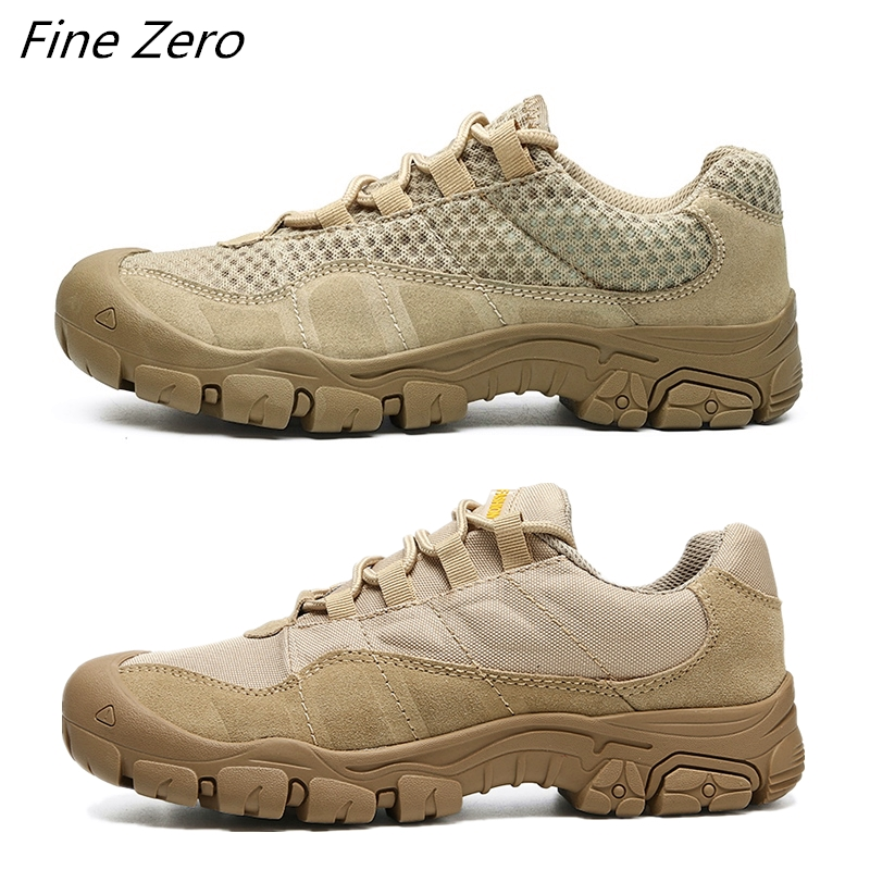 New Outdoor Men's Waterproof Hiking Shoes Breathable Tactical Combat Training Army Boots Desert Sneakers Non-Slip Trekking Shoes