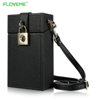 FLOVEME Luxury 5 5 Slanted Shoulder Phone Bag Girls Pouch For IPhone X 6 6s Plus