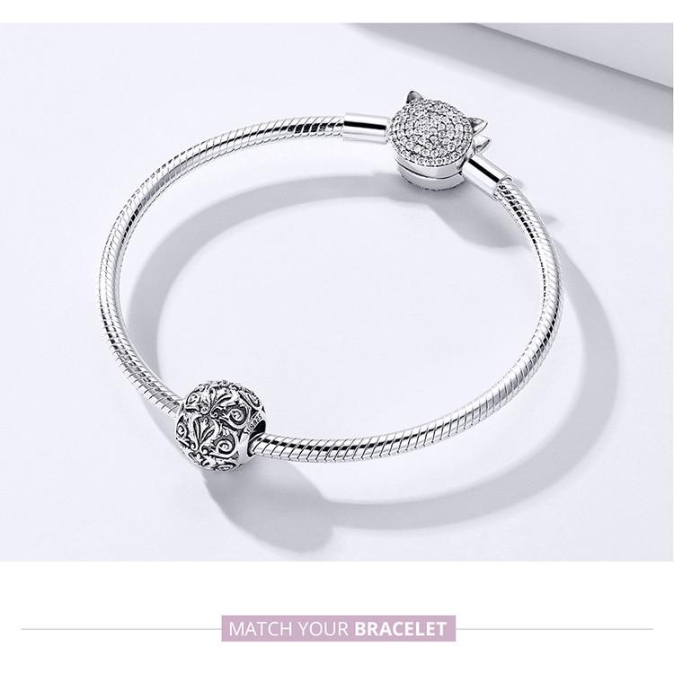 HTB1uwKrS4naK1RjSZFtq6zC2VXal BAMOER Metal Round Beads for Jewelry Making 925 Sterling Silver European Engraved Pattern Silver Charm for 3mm Bracelet SCC1179