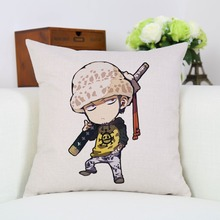 Roronoa Zoro Cartoon Print Pillow Case 45X45 CM