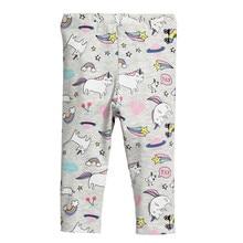 Pantalones de algodón con estampado de animales para niños pantalones de tubo de longitud completa para niñas