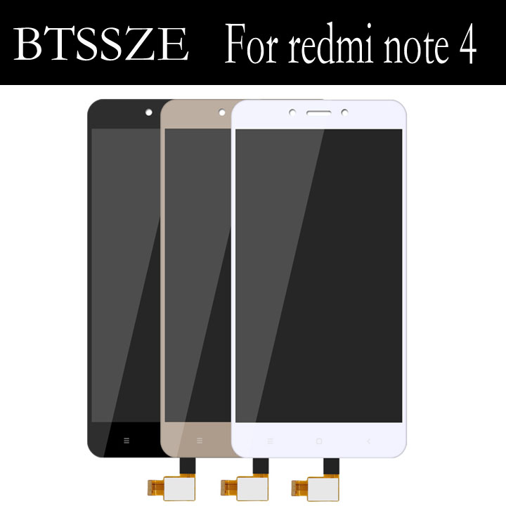 for xiaomi redmi note 4 lcd display + touch screen glass panel Sensor replacement for xiaomi redmi note4 helio x20 version