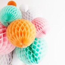 9pcs Honeycomb Party Decoration Set Paper Crafts Balls Birthday Wedding Festive  Romantic