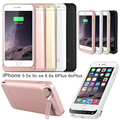 RU US External Power bank Pack backup battery Charger Case For iPhone 5 5C 5S SE 6 6s Plus With Tempered Glss Film USB line