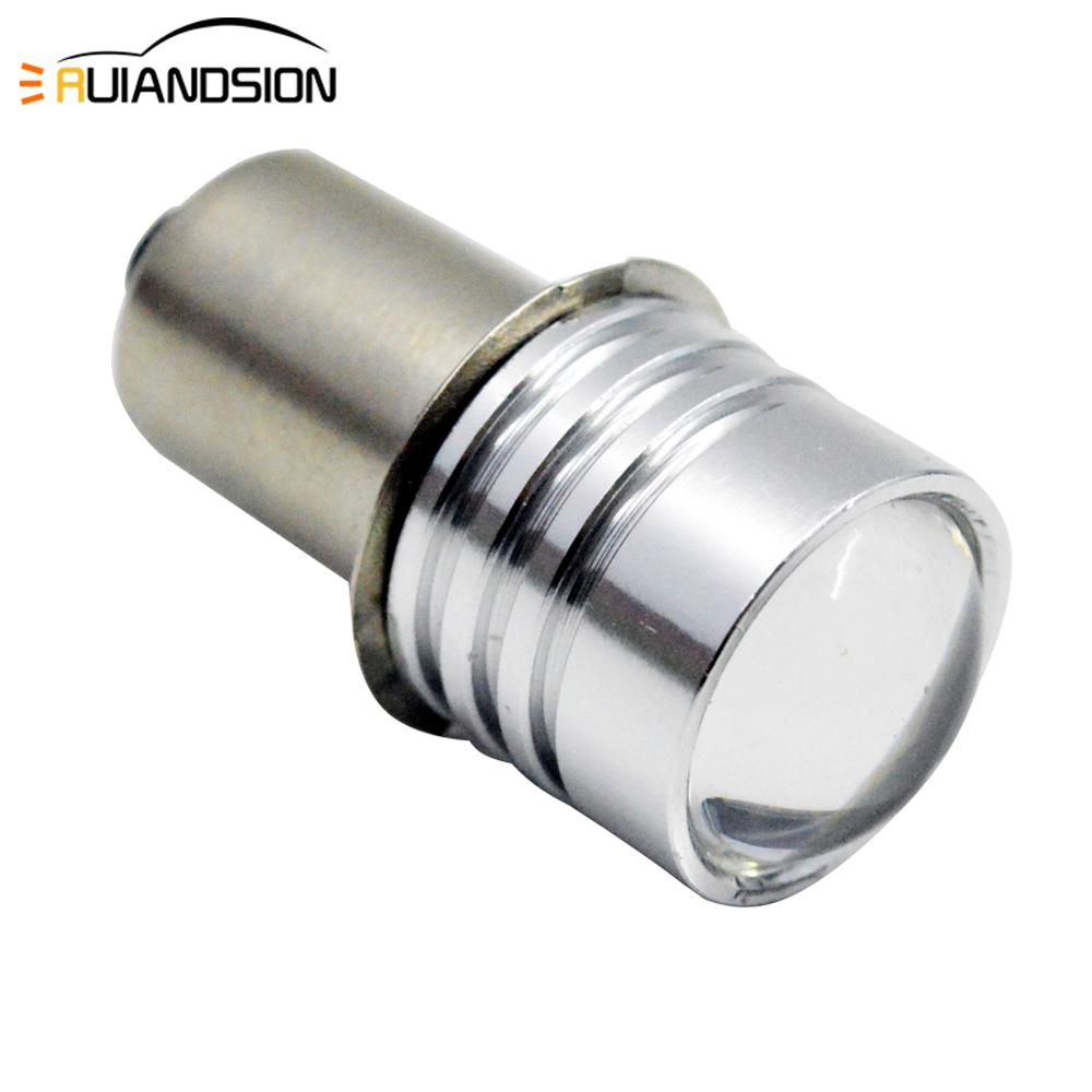 1pc P13.5S PR2 0.5W DC 3V 4.5V 6V 3smd 3030 Maglite Bulb LED Flashlight Bulb Replacement Part Maglite Bike Torch LED White 150LM