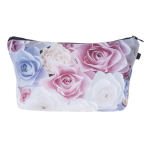 Who Cares 3D Printing Roses Ombre Neceser Portable Make Up Bags Case Organizer Bolsa feminina Travel Toiletry Bag Cosmetic Bag