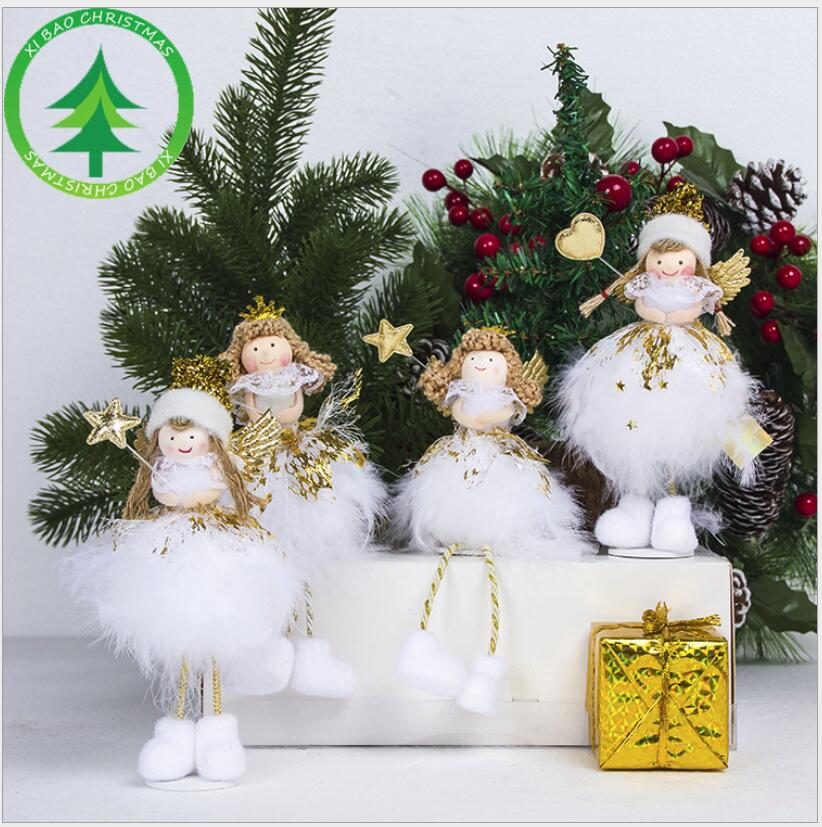 2018 navidad christmas holiday figurines angel christmas decorations for home decoration christmas gift in pendant drop ornaments from home garden on