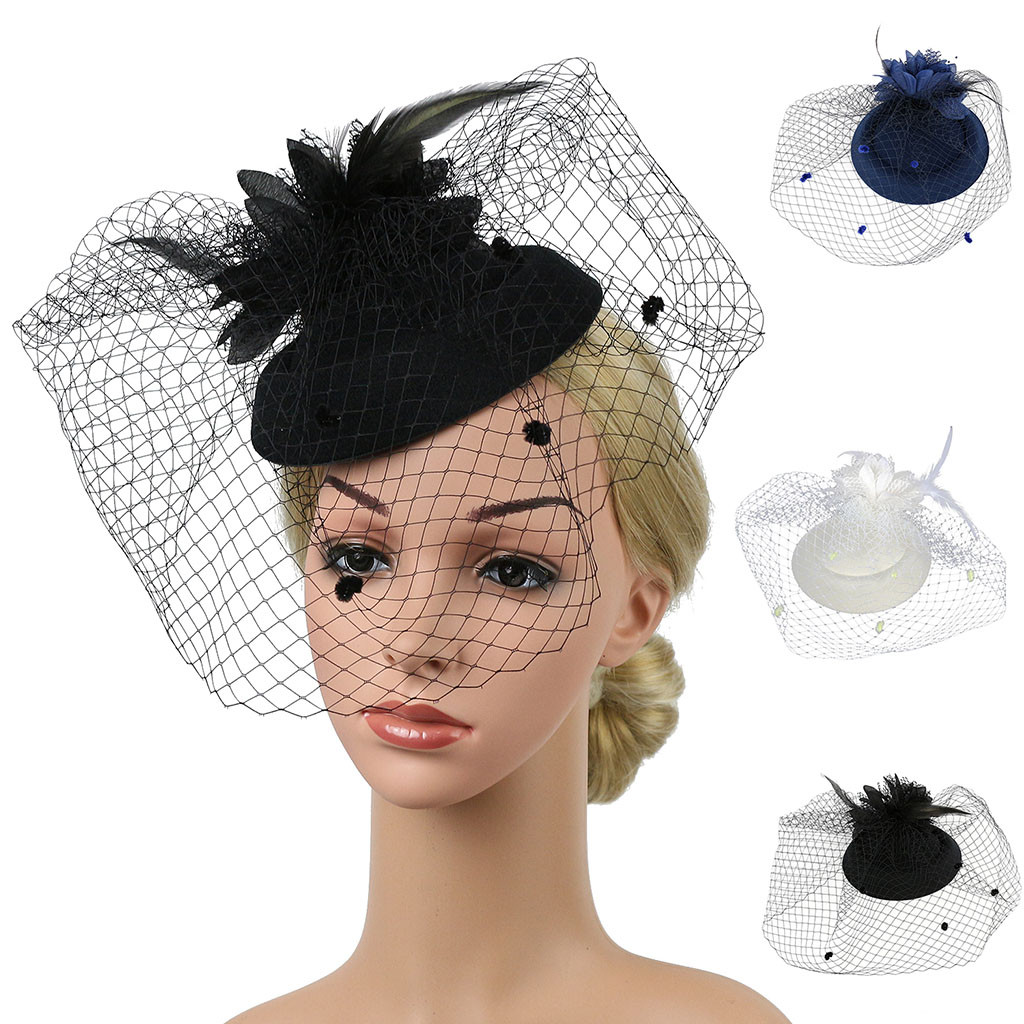 2019 fashion new Explosion Style High-end Hemp Hat Fascinators Hat Cocktail Tea Party Girls and Women's Headwear шляпа 50*