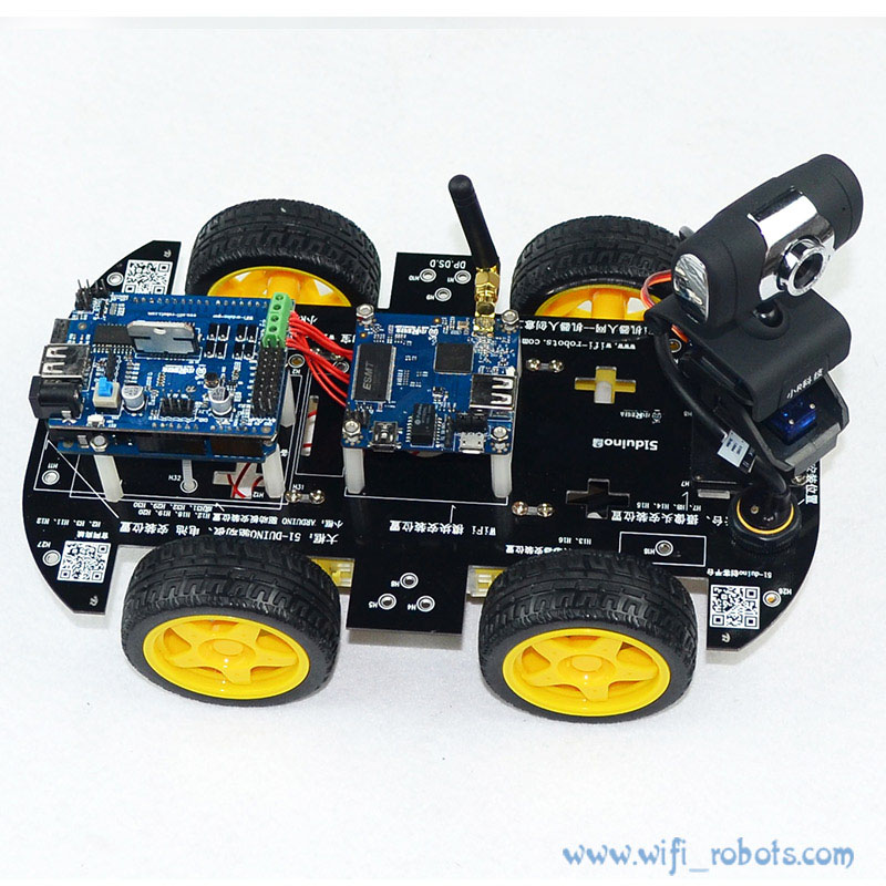 Wifi Smart Car Robot Kit For Arduino IOS Video Car Robot Wireless Remote Control Android PC Video Monitoring