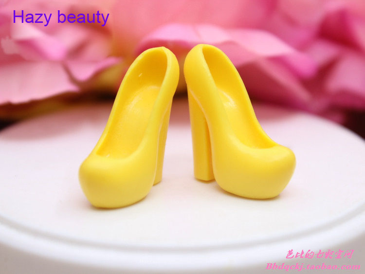 Hazy beauty New different styles for choose Colorful Assorted Casual High heel shoes for Barbie 1