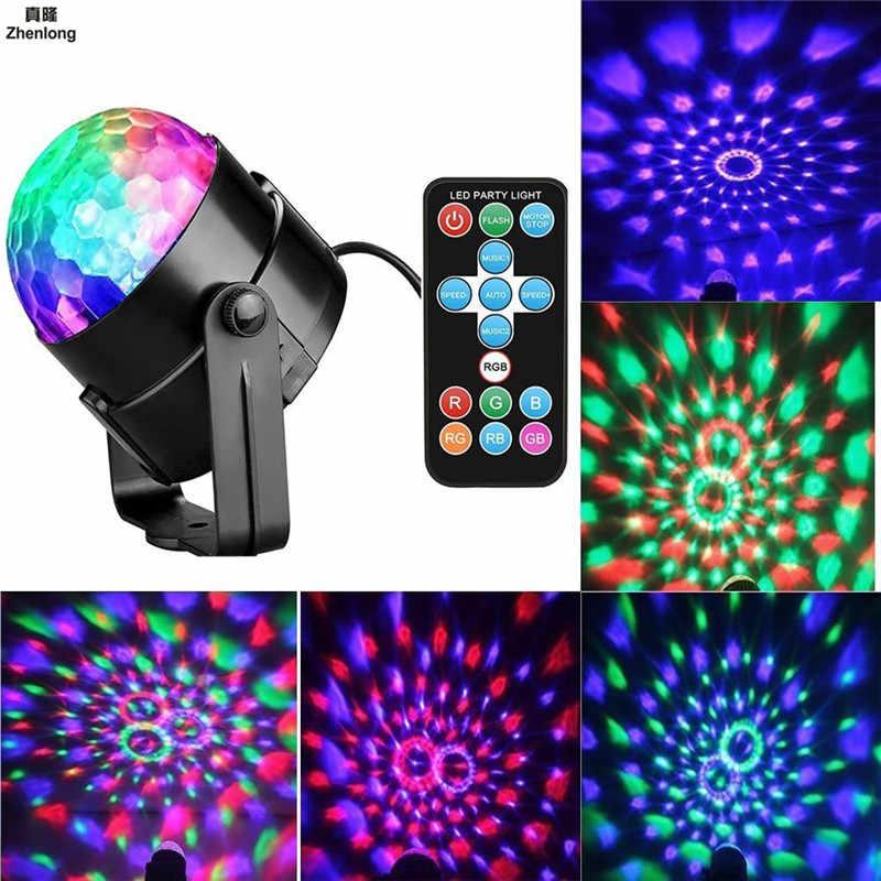 7 Farben DJ Disco Ball Lumiere 5 Watt Sound Aktiviert Laser projektor RGB Bühnenbeleuchtung wirkung Lampe Weihnachten KTV Musik Party licht