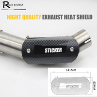 Motorcycle Exhaust Middle Link Pipe Carbon Fiber Stainless Steel Protector Heat Shield Cover Guar For Most