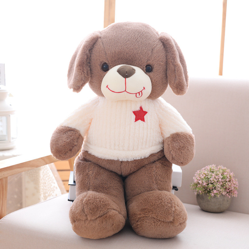 1pc 50cm Lovely Single Dog Plush Toys Staffed Soft Animal Puppy Dog Doll Kawaii Gift for Kids Baby Christmas Gift Funny Present