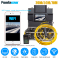 WP70E Pipe Inspection System 20M/30M/50M yellow cable NEW Endoscope Inspection Camera 1200TVL line HD Borescope video recorder