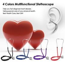 Medical Dual Headed Stethoscope Professional Portable Multifunctional 55cm Tube Double Estetoscopio Equipment Health Care Tool