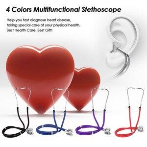 Image 1 - Stéthoscope médical à Double tête professionnel Portable multifonctionnel 55cm Tube Double Estetoscopio équipement outil de soins de santé